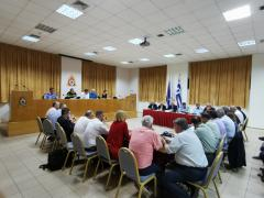 Πραγματοποιήθηκε σήμερα συνεδρίαση του Κεντρικού Συντονικού Οργάνου Πολιτικής Προστασίας, με συμμετοχή όλων των εμπλεκόμενων φορέων, κατόπιν σύγκλησής του από το Γενικό Γραμματέα Πολιτικής Προστασίας κ. Νίκο Χαρδαλιά.