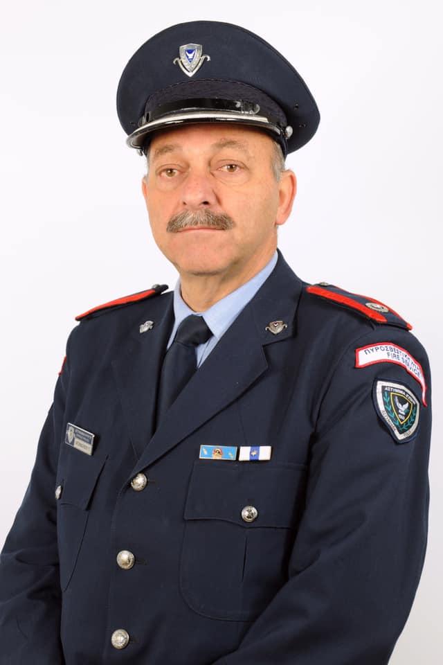 Βιογραφικό σημείωμα Αναπλ . Διευθυντή Πυροσβεστικής Υπηρεσίας Ο Αναπλ. Διευθυντής Πυροσβεστικής Υπηρεσίας Αστυν. Β' Πολύβιος Χατζηβασιλείου