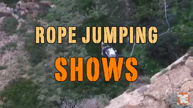 2o Off Road Adventure Festival Rope Jumping Show by Acronuft Rigging