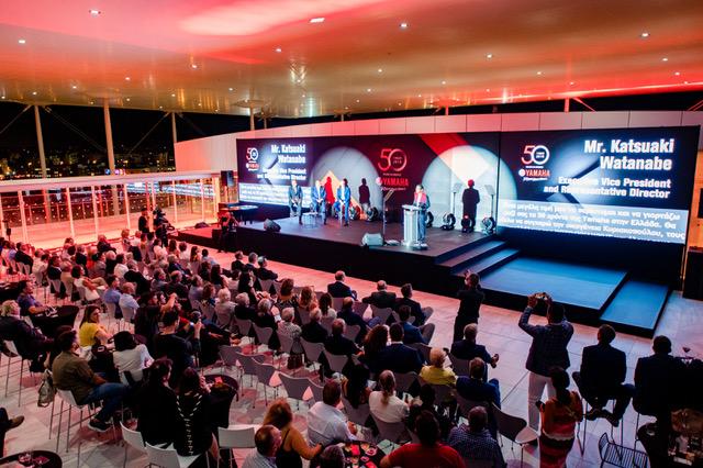 Η ABOVE συνεχίζοντας την παράδοση που έχει στη διοργάνωση εκδηλώσεων υψηλού επιπέδουσχεδίασε και οργάνωσε τον εορτασμό των 50 χρόνων της Yamaha στην Ελλάδα